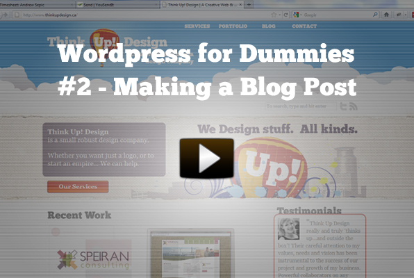 How to make a blog post - WordPress