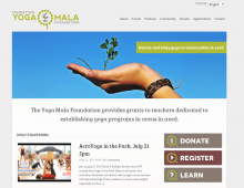 Yoga Mala Foundation Web Design